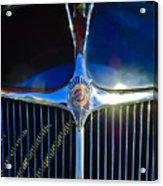 1935 Chrysler Hood Ornament 2 Acrylic Print by Jill Reger