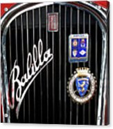 1935 Fiat Balilla Sport Spider Grille Acrylic Print