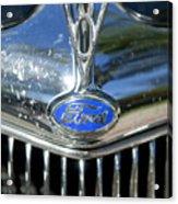 1935 Ford V8 Hood Ornament 2 Acrylic Print