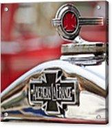 1936 American Lafrance Fire Truck Hood Ornament Acrylic Print by Jill Reger