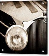 1936 Bugatti Type 57s Corsica Tourer Grille Emblem -1673s Acrylic Print