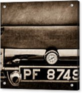 1936 Bugatti Type 57s Corsica Tourer License Plate -0067s Acrylic Print