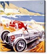 1936 F1 Monaco Grand Prix  Acrylic Print by Georgia Fowler