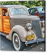 1936 Ford V8 Woody Station Wagon Acrylic Print