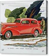 1936 La Salle Two Door Touring Sedan Acrylic Print