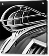 1936 Plymouth Sedan Hood Ornament 2 Acrylic Print