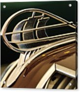 1936 Plymouth Sedan Hood Ornament Acrylic Print