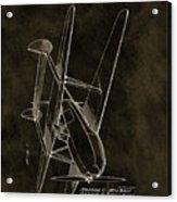 1936 Tandem Motored Biplane Acrylic Print