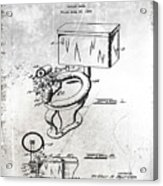 1936 Toilet Bowl Patent Antique Acrylic Print