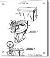 1936 Toilet Bowl Patent Acrylic Print