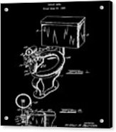 1936 Toilet Bowl Patent Black Acrylic Print