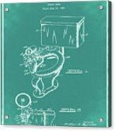 1936 Toilet Bowl Patent Green Acrylic Print