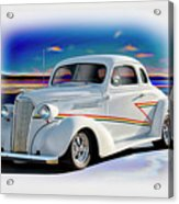 1937 Chevrolet Coupe 'accent Graphics' Acrylic Print