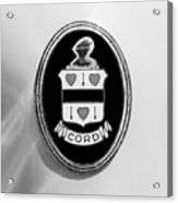 1937 Cord 812 Sc Phaeton Emblem -1203bw2 Acrylic Print
