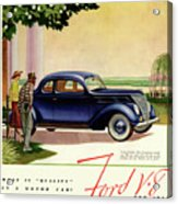 1937 Ford Car Ad Acrylic Print