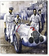 1937 Italian Gp Mercedes Benz W125 Rudolf Caracciola Acrylic Print