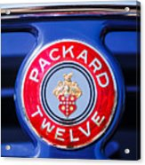 1937 Packard 12 Coupe Roadster Emblem Acrylic Print