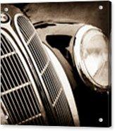 1938 Bmw 327-8 Cabriolet Grille Emblem -1526s Acrylic Print