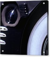 1938 Cadillac Limo Wheel Well Reflections Acrylic Print