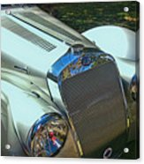 1938 Delage D8 - 120 Aerodynamic Coupe Front Grill Acrylic Print