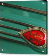 1938 Lincoln Zephyr Convertible Sedan Emblem Acrylic Print