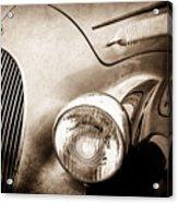 1938 Talbot-lago 150c Ss Figoni And Falaschi Cabriolet Headlight - Emblem -1554s Acrylic Print