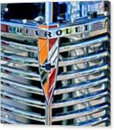 1939 Chevrolet Coupe Grille Emblem Acrylic Print