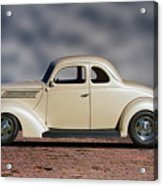 1939 Chevrolet White Coupe Acrylic Print