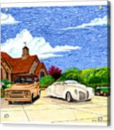 1939 Lincoln Zephyr  Family Home Acrylic Print
