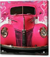 1940 Classic Hot Pink Ford Acrylic Print