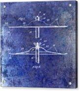1940 Cymbal Patent Blue Acrylic Print