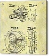 1940 Film Camera Patent Acrylic Print