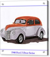1940 Ford Street Rod Acrylic Print