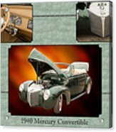 1940 Mercury Convertible Vintage Classic Car Painting 5238.02 Acrylic Print