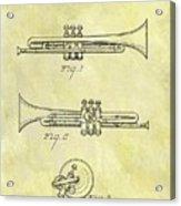 1940 Trumpet Patent Acrylic Print