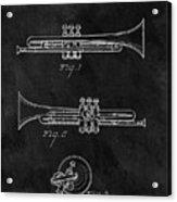 1940 Trumpet Patent Illustration Acrylic Print