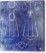 1940 Waitress Uniform Patent Blue Acrylic Print