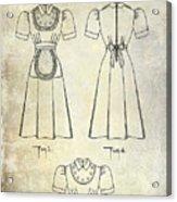 1940 Waitress Uniform Patent Acrylic Print