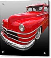 1940s Custom Chrysler New Yorker In Red Acrylic Print