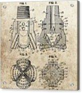 1940s Oil Drill Bit Patent Acrylic Print