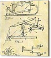1941 Bulldozer Patent Acrylic Print