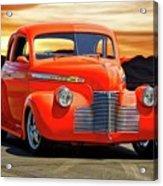 1941 Chevrolet Coupe 'reno Sunrise' Acrylic Print