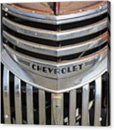 1941 Chevy - Chevrolet Pickup Grille Acrylic Print