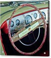 1941 Chrysler Newport Dual Cowl Phaeton Steering Wheel Acrylic Print