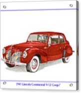 1941 Mk I Lincoln Continental Acrylic Print