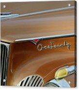 1941 Packard Hood Ornament 2  Acrylic Print by Jill Reger