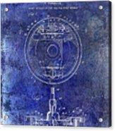 1941 Porsche Brake Mechanism Patent Blue  Acrylic Print