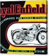 1941 Royal Enfield Motorcycle Ad Acrylic Print