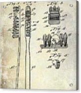 1941 Toothbrush Patent  Acrylic Print