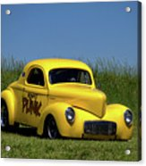 1941 Willys Coupe Dragster Acrylic Print